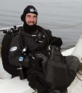 Kevin Augarten in dive suit