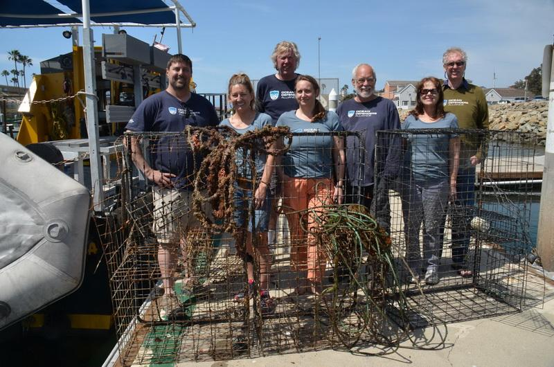 ODA Dive & Boat Crew at the dock with recovered lobster traps.