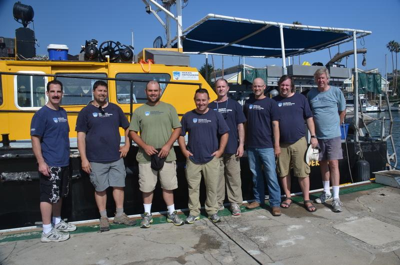 ODA Volunteer Crew before heading out to find man-made debris to remove.
