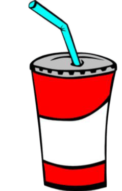 news cup and straw