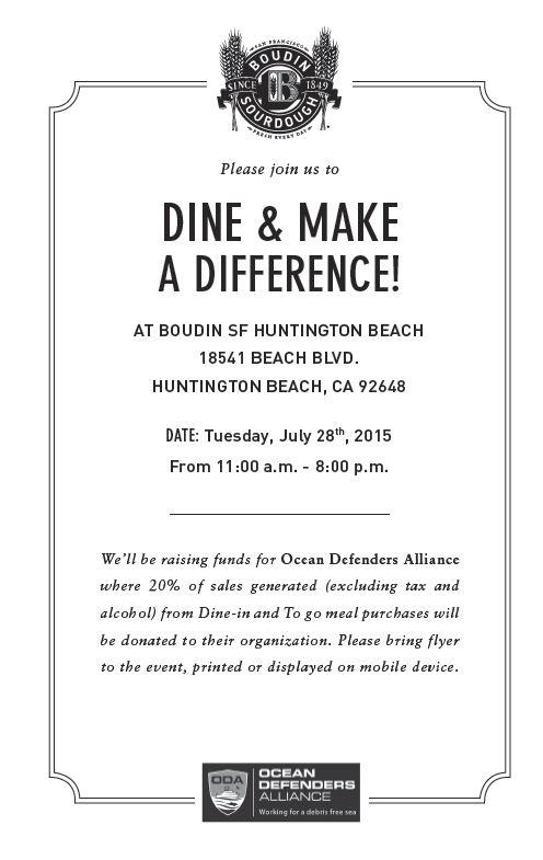 Flyer for ODA at Boudin Bakery