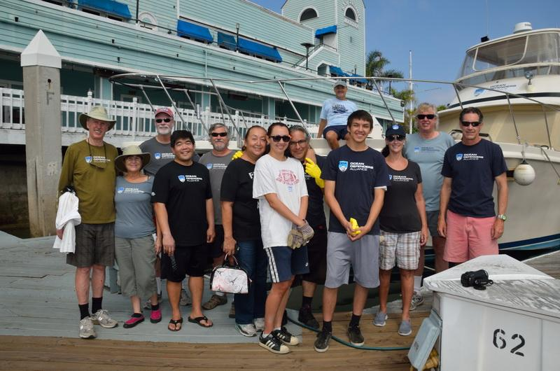 ODA Volunteer Crew before sailing on our marine debris removal expedition
