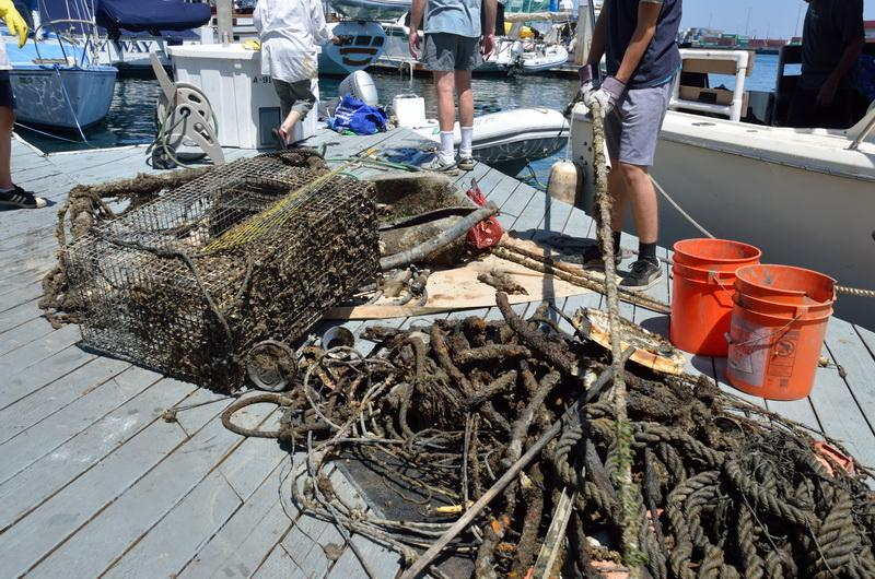 ODA hauled out a giant pile of ocean debris.
