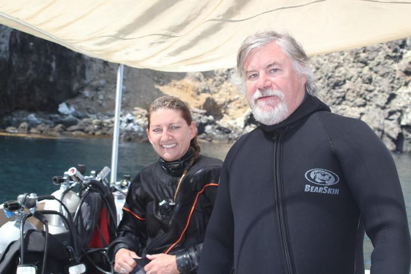 ODA SCUBA Divers Kim Cardenas and Jeff Connor