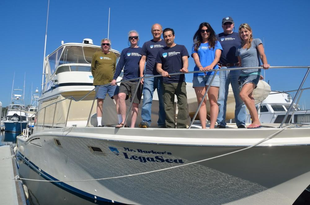 Ocean Defenders Crew before departure