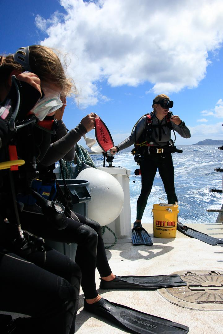ODA-HI Volunteer SCUBA diver Mary Christensen