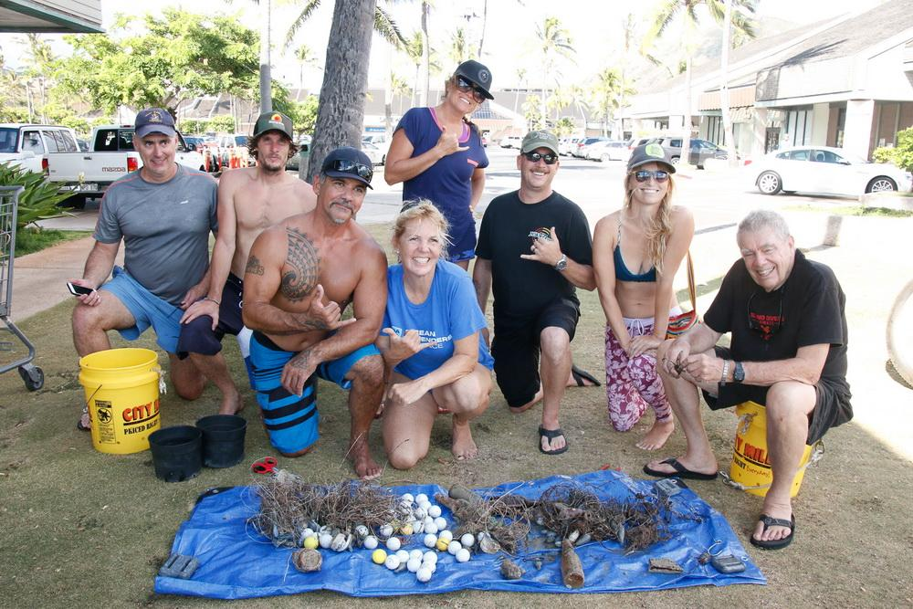 Ocean Defenders Alliance Hawaii Crew with days catch
