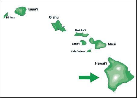Hawaii islands featuring the Big Island