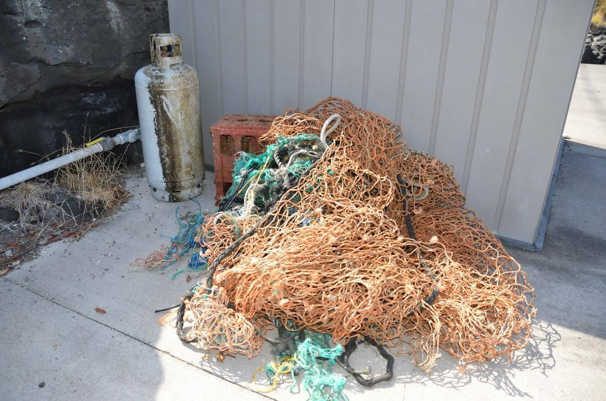 Jacks Diving Locker nylon net hauled out