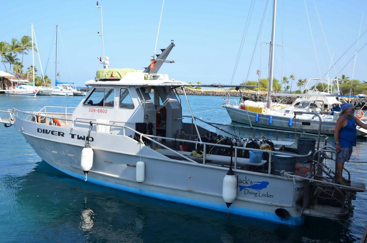Jacks Diving Locker boat Diver Two