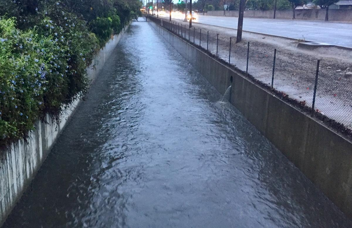 La Brea Channel flowing
