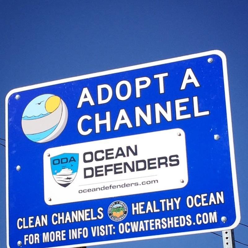 ODA Adopt A Channel sign
