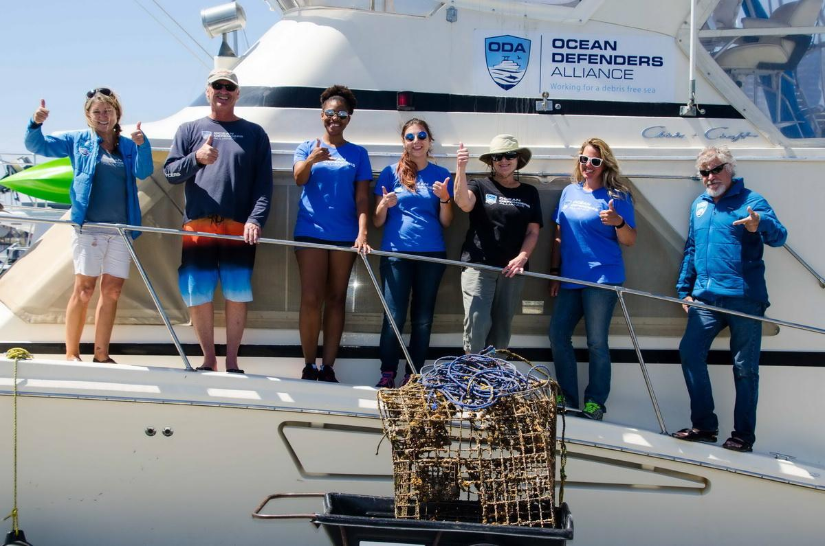 Ocean Defenders Crew with catch of the day