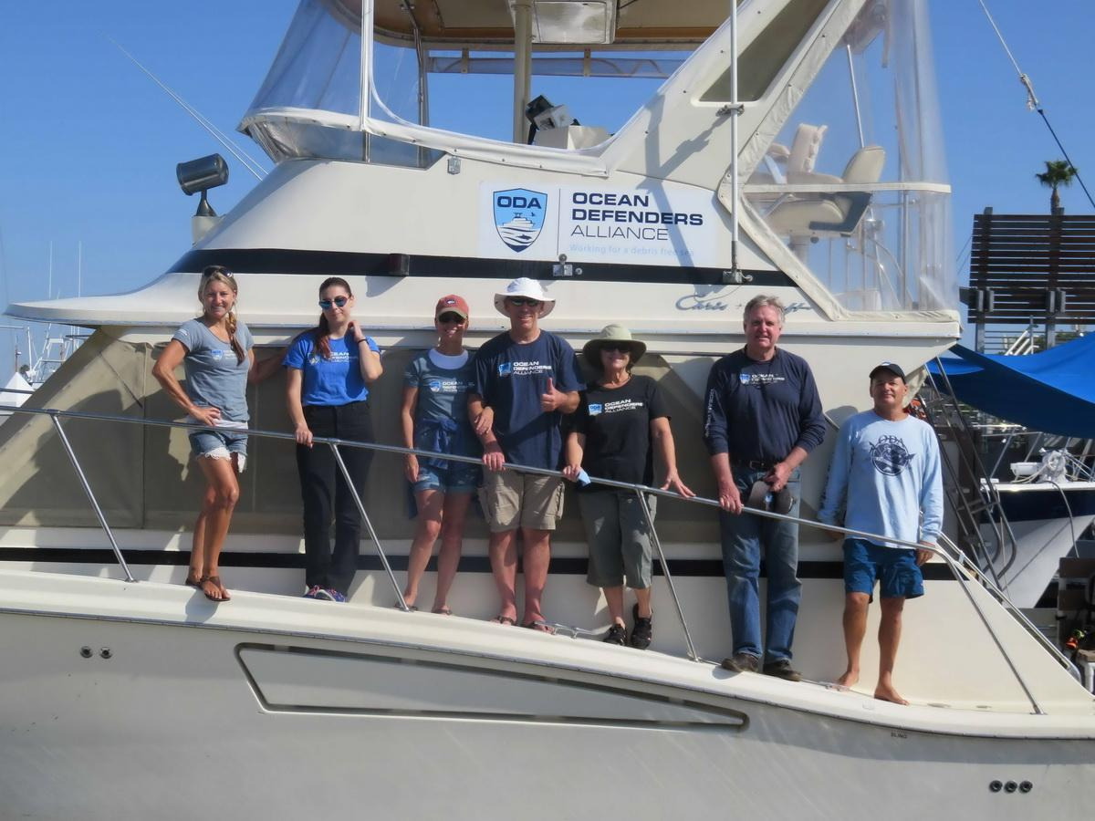 ODA Boat & Dive Crew clean ghost gear from ocean