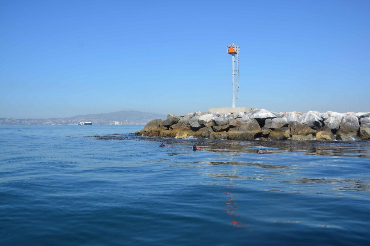 LA Harbor breakwall