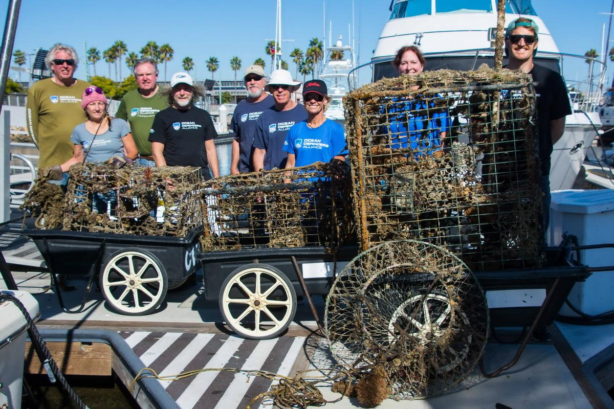 Ocean Conservation Crew with recovered debris